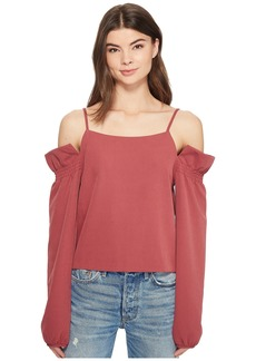 Romeo & Juliet Couture Bubble Sleeve Cold Shoulder Top