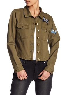 Romeo & Juliet Couture Butterfly Patch Military Jacket