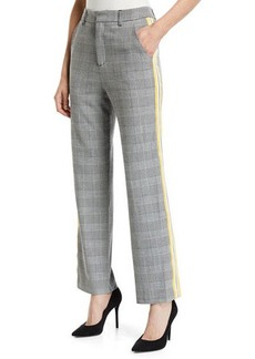Romeo & Juliet Couture Check Plaid Side-Tape Mid-Rise Trousers