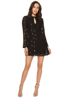 Romeo & Juliet Couture Chiffon Star Motif Dress w/ Keyhole Front