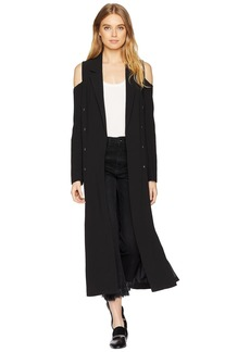 Romeo & Juliet Couture Cold Shoulder Long Blazer