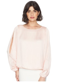Romeo & Juliet Couture Cold Shoulder Pleated Blouse
