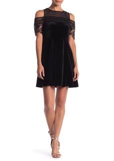 Romeo & Juliet Couture Cold Shoulder Velvet Dress