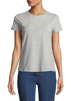 Romeo & Juliet Couture Cool Faux-Pearl Embellished T-Shirt
