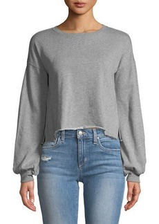 Romeo & Juliet Couture Cropped Balloon-Sleeve Sweatshirt