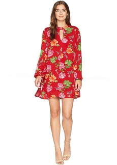 Romeo & Juliet Couture Cut Out Floral Print Dress