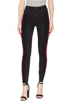 Romeo & Juliet Couture Double Side Tape Denim Pants