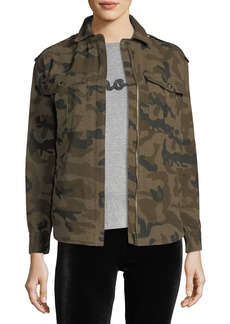Romeo & Juliet Couture Dragon-Embroidered Camo Jacket