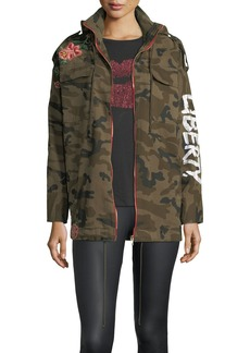 Romeo & Juliet Couture Embroidered Camouflage Military Jacket