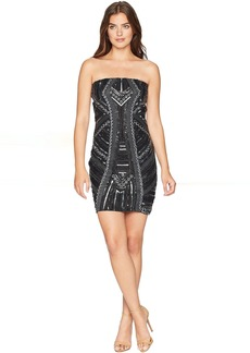 Romeo & Juliet Couture Embroidered Tube Mini Dress