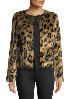 Romeo & Juliet Couture Faux-Fur Crewneck Coat