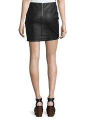 Romeo & Juliet Couture Faux-Leather Studded Embroidered Skirt