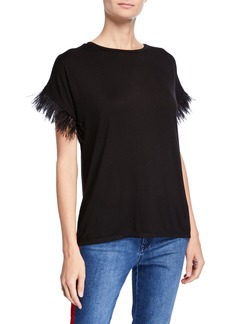 Romeo & Juliet Couture Feather-Sleeve T-Shirt