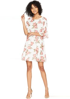 Romeo & Juliet Couture Fit and Flare Floral Dress