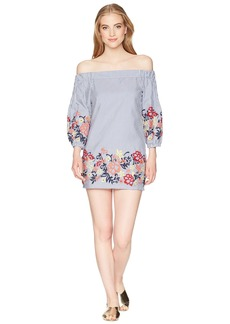 Romeo & Juliet Couture Floral Embroidered Off Shoulder Dress