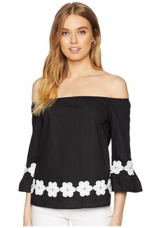 Romeo & Juliet Couture Floral Embroidery Detail Top