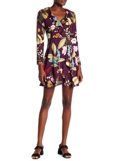 Romeo & Juliet Couture Floral Faux Wrap Dress