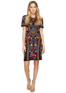 Romeo & Juliet Couture Floral Geometric Patterned Dress