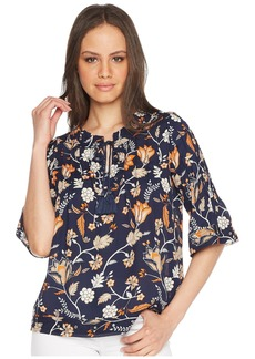 Romeo & Juliet Couture Floral Print Tie Up Front Top
