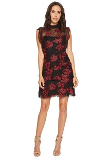 Romeo & Juliet Couture Flower Lace Dress w/ Sheer Detail