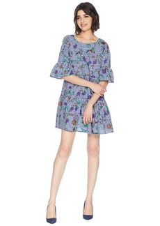 Romeo & Juliet Couture Flower Print Gingham Dress