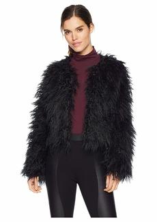 Romeo & Juliet Couture Fluffy Long Fur Coat