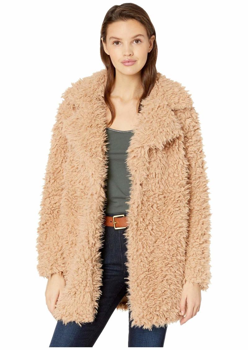 Romeo & Juliet Couture Fuzzy Faux Fur Coat