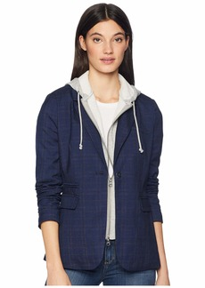 Romeo & Juliet Couture Hoodie and Plaid Blazer