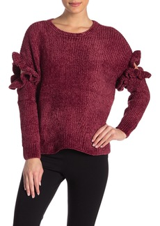 Romeo & Juliet Couture Knit Ruffled Sweater
