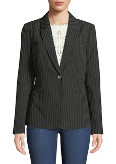 Romeo & Juliet Couture Lace-Up Pinstriped Blazer