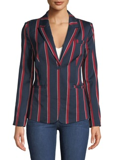 Romeo & Juliet Couture Lace-Up Striped Blazer