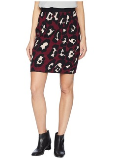 Romeo & Juliet Couture Leopard Print Knit Skirt