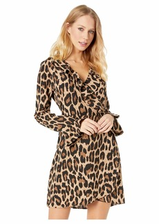 Romeo & Juliet Couture Leopard Print Ruffle Dress