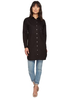 Romeo & Juliet Couture Long Shirt w/ Studs on Pocket Detail