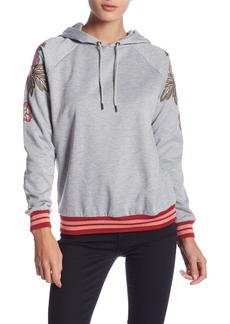 Romeo & Juliet Couture Floral Embroidered Hoodie