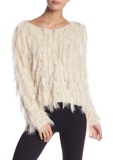 Romeo & Juliet Couture Long Sleeve Shag Knit Sweater