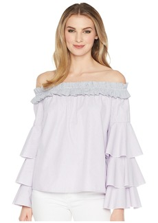 Romeo & Juliet Couture Multi Ruffle Off the Shoulder Blouse