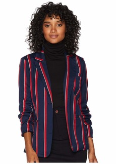 Romeo & Juliet Couture Multi Stripe Lace-Up Blazer Jacket