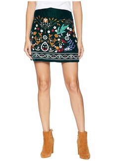 Romeo & Juliet Couture Multicolor Embroidered Mini Skirt