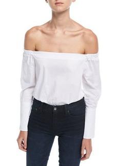Romeo & Juliet Couture Off-the-Shoulder Cotton Bodysuit