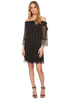 Romeo & Juliet Couture Off the Shoulder Dotted Dress