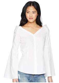 Romeo & Juliet Couture Off the Shoulder Shirt with Bell Sleeves