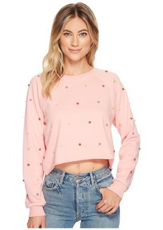 Romeo & Juliet Couture Pearl Crop Sweatshirt