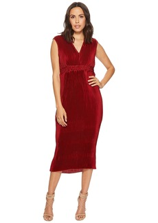 Romeo & Juliet Couture Pleated Chiffon Tie-Back Midi Dress