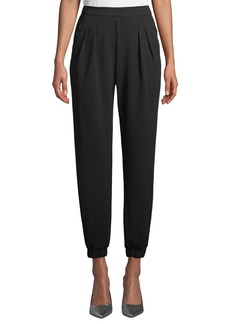 Romeo & Juliet Couture Pleated Crepe Tapered Pants