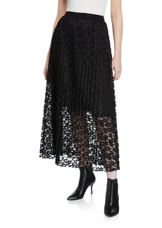 Romeo & Juliet Couture Pleated Lace Maxi Skirt