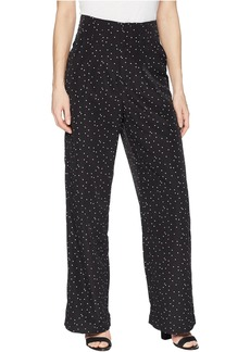 Romeo & Juliet Couture Polka Dot Print Wide Pants