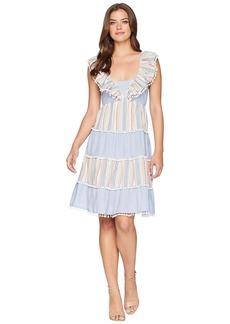 Romeo & Juliet Couture Pom Pom Stripe Tier Dress