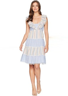 Romeo & Juliet Couture Pom Pom Stripe Tier Dress