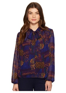Romeo & Juliet Couture Printed Neck Bow Top